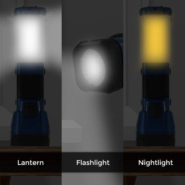 Bright 3-in-1 LED Lantern, Flashlight & Night Light (Random Colors)