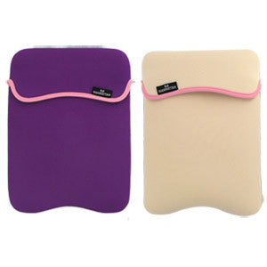 Reversible Notebook Sleeve Fits Most Widescreens Up to 10 - Purple/Cream, 421973