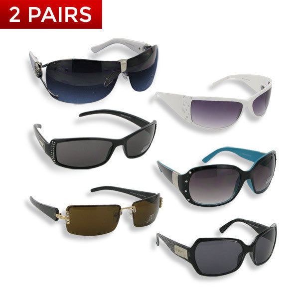Assorted Women's Fashion Sunglasses Inspired by Famous Designers (2 Pairs)