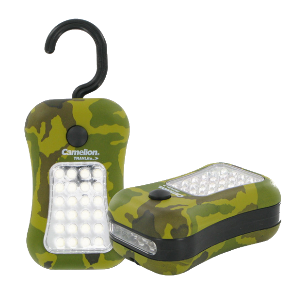 Camelion Camo 28 LED Worklight with Built-in Magnet and Hook
