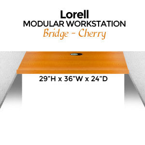 Lorell Modular Workstation Bridge, 29H x 36W x 24D, Cherry