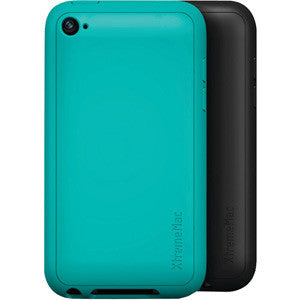 XtremeMac Tuffwrap Silicone Case for iPod Touch 4G (2 PK Black & Turquoise), 02290