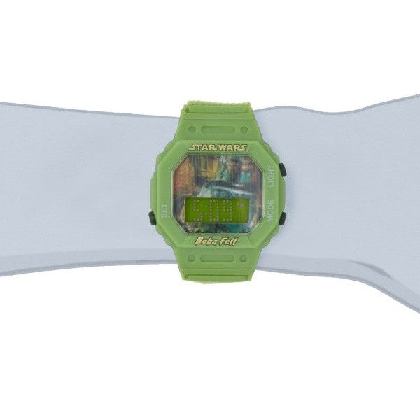 Star Wars Kids' Boba Fett Digital Wrap Strap Watch - 9005909