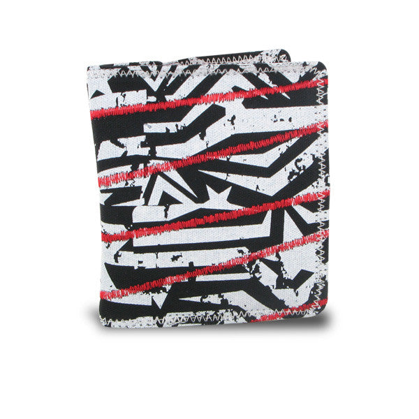 Amplify Punk Rock Bi-fold Wallet (Black/White/Red)