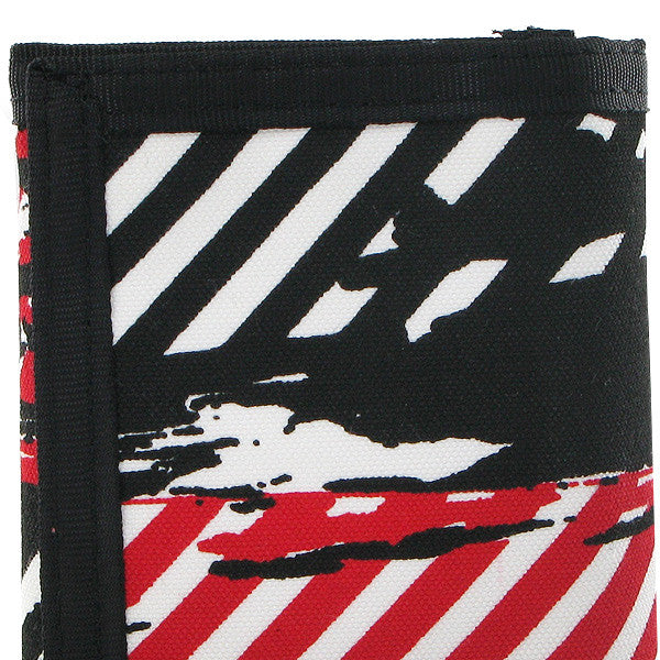 Trifold Splatter and Stripes Canvas Wallet, 03760232-3