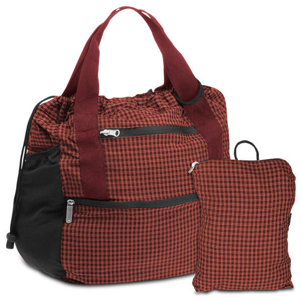 Travelon Stow-Away Convertible Tote or Backpack Duo (Red Plaid), F08753 172000