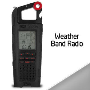 Eton Raptor Solar Charge Emergency & Weather Band Radio (Black) - NSP200WXB