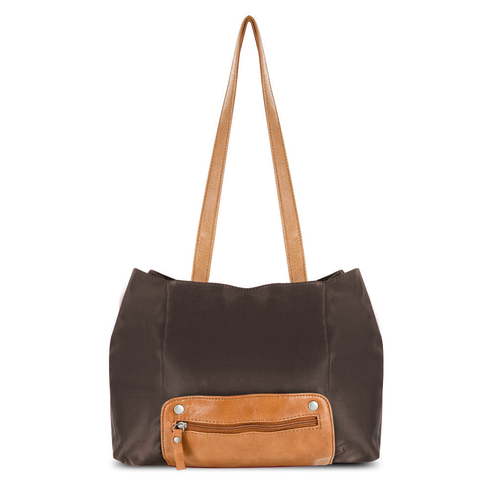 Travelon Twenty9Five Piegare Mini Tote (Brown), F07786 849000