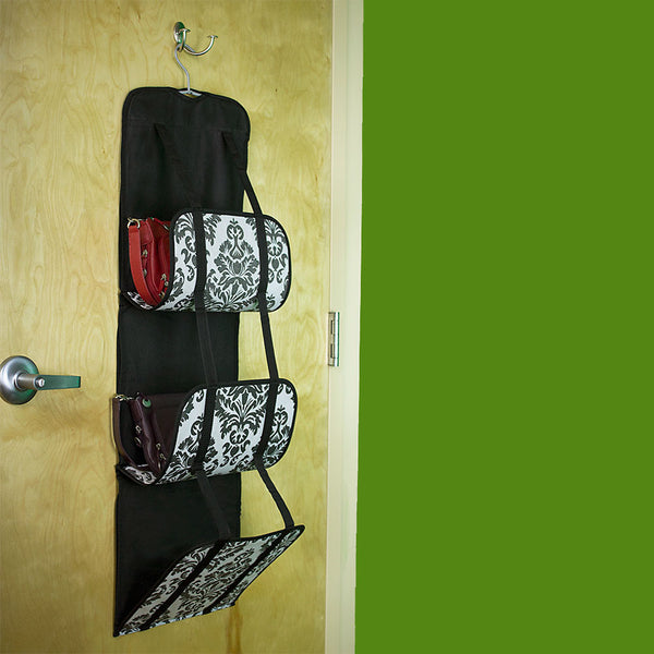 Travelon Hanging Handbag Organizer - Set of 2 (Black Damask), 22451-50-QV00-0