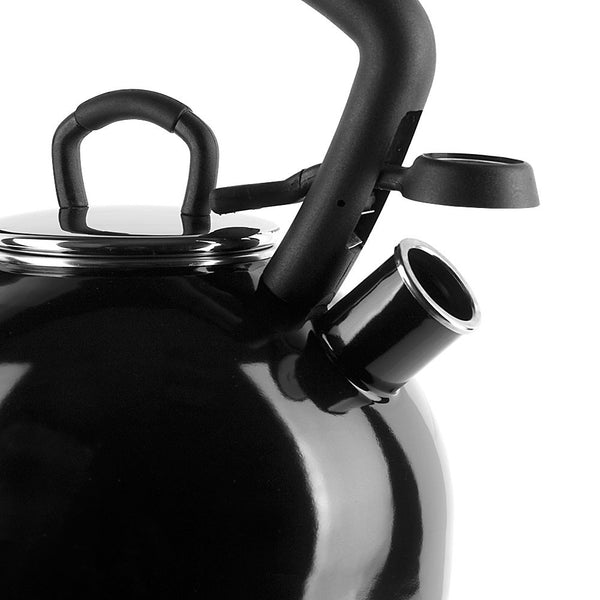 KitchenAid Black 2.25 Quart Porcelain Enamel Tea Kettle