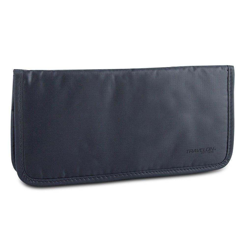 Travelon Safe ID Hack-Proof Ladies Wallet with RFID Blocking, Dark Gray, 12592-510-0010-