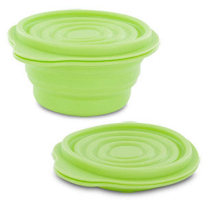 BPA-Free 1.5 Cup Collapsible Silicone Container with Lid, Lime, 12649-410-0020-