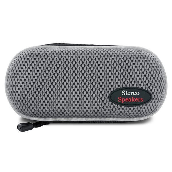 Sporty Nylon Portable Stereo Speaker (Gray), 6083-0