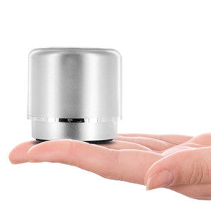 Mini-BOOM Wireless Bluetooth Speaker with Rechargeable Battery (Silver)