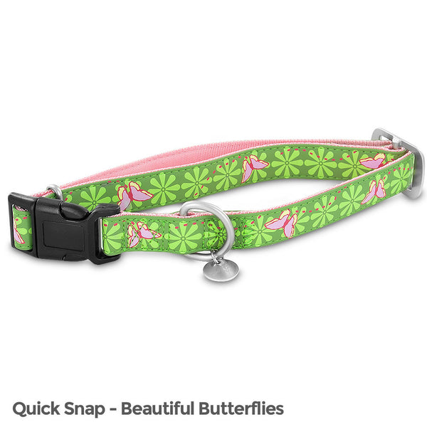 PetSafe Bark Avenue Quick Snap Collar (Large, Beautiful Butterflies) - BA-QSC-L-1-BEA