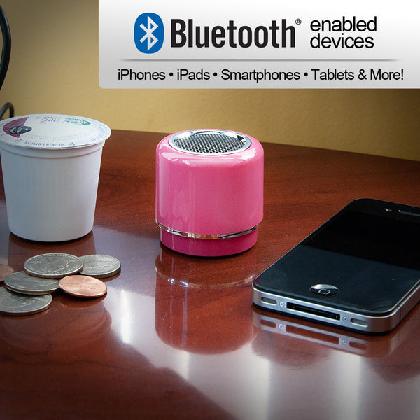 Mini-BOOM Wireless Bluetooth Speaker with Rechargeable Battery (Pink), SGP1041SPK650