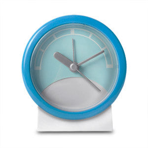 Stand Up Analog Alarm Clock (Blue/White), 10341