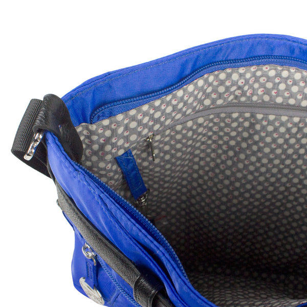 Travelon Nylon Adjustable Hobo with Belt Detail, Dazzle Blue, 42890-340-QV40-01