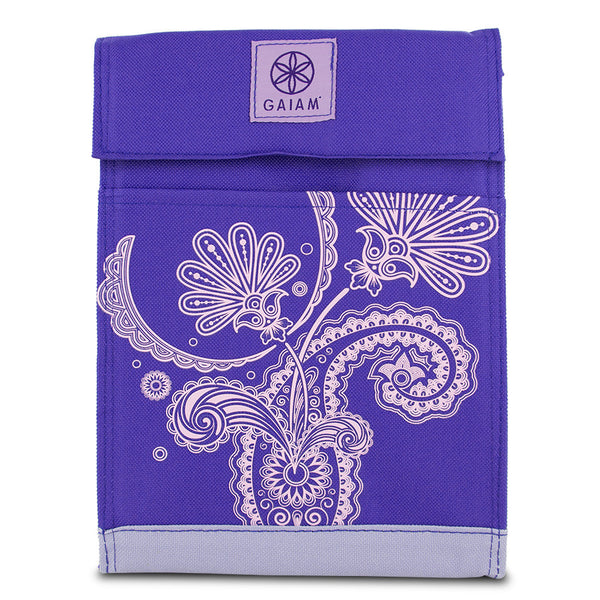 Gaiam Lunch Sack - Purple Paisley