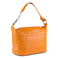 Mad Style Patent Weave Satchel, Orange - 3889B