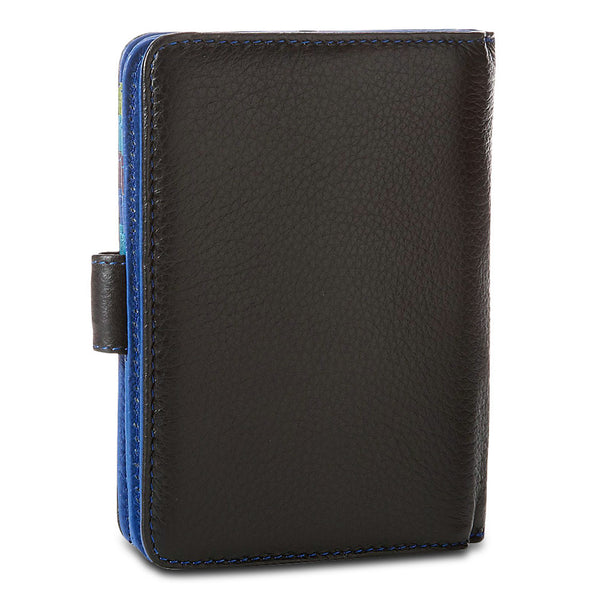 Travelon Leather Safe ID Color Block Bi-Fold Tab Wallet, Black, 12774-500