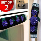 Kitchen Appliance Handle Covers w/ Grape Design