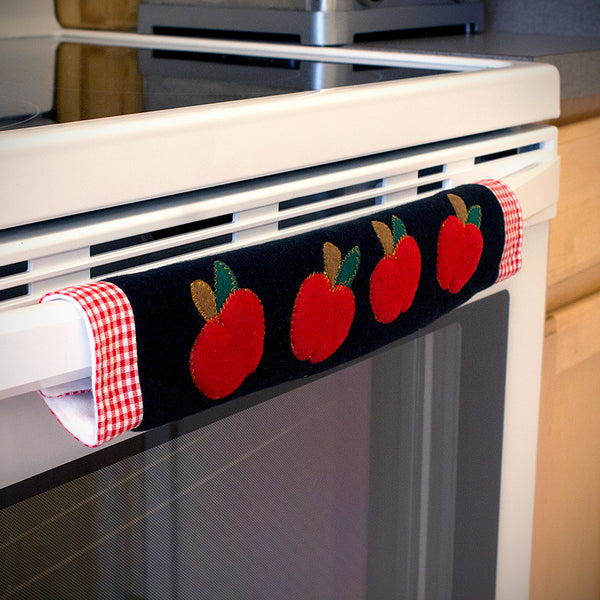 Kitchen Appliance Handle Covers with Apple Design