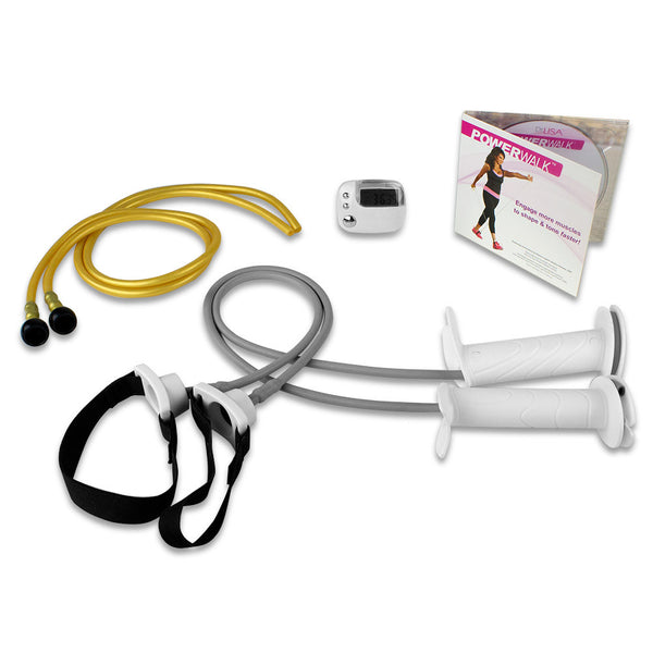 PowerWalk Elastic Fitness System with Pedometer - 1-SKW-DL