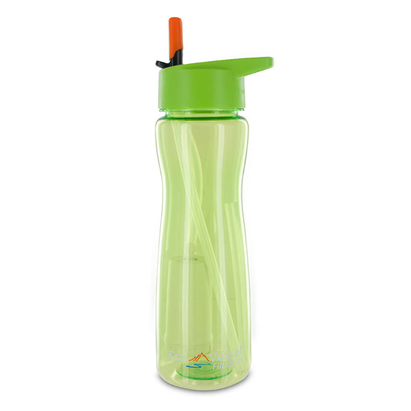 Aqua Vessel Ultra Lite Tritan 25oz Filtration Bottle - 100 Gallon Filter, Green