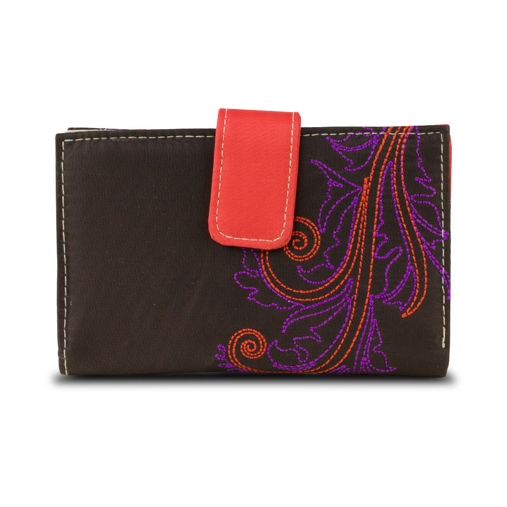 Travelon SafeID Hack-Proof Feather Tri-Fold RFID Wallet - Brown, 22832-750