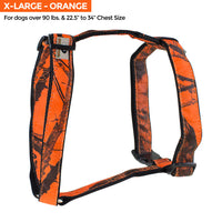 Mossy Oak Basic Dog Harness, Orange, Medium - 22857-06