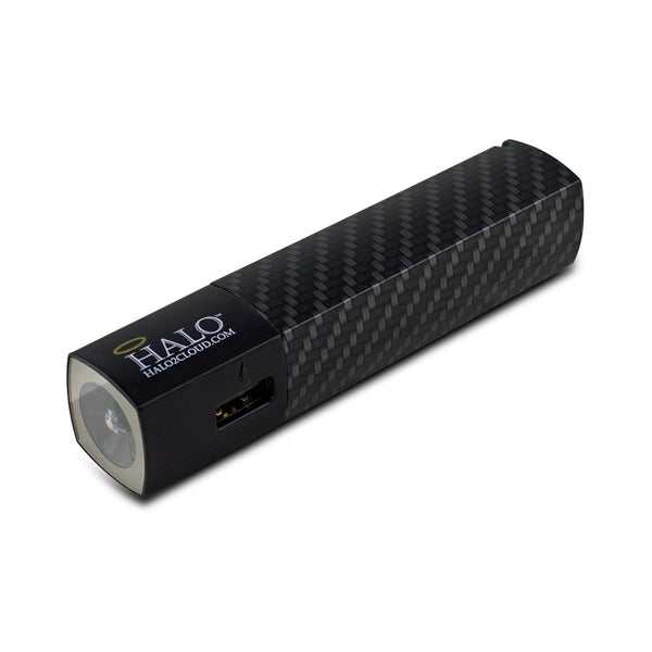 Halo Pocket Power Starlight 3000mAh Power Bank with Flash Light, Graphite