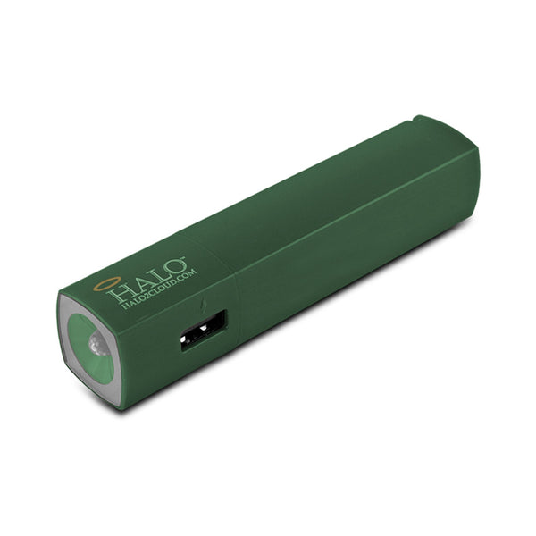 Halo Pocket Power Starlight 3000mAh Power Bank with Flash Light, Green
