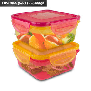 Cool Gear Expandable Air Tight Food Lunch Box Container 1.85 CUP BPA-free 2-Pack