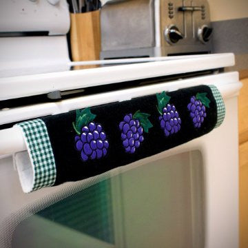 Oven Door Handle Cover with Grape Design