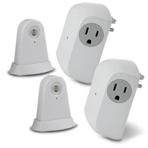 Wireless Dusk-to-Dawn Security Light Control with Outlet Receiver (Set of 2)
