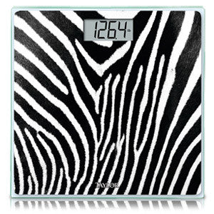 Taylor Glass Digital Bath Scale (Zebra) - 7558Z