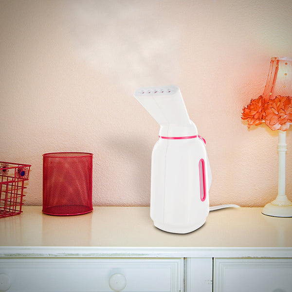 Dual Heat Multi-Purpose Fabric Steamer (White/Pink)
