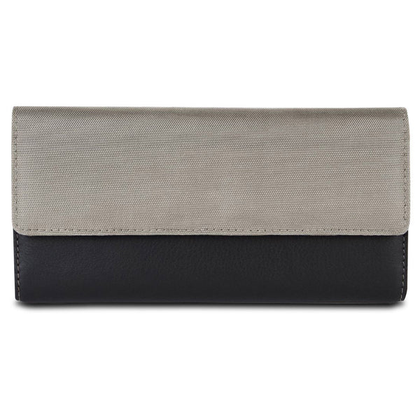 Travelon SafeID Accent Flap Clutch Wallet, Stone, 82873-800