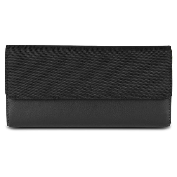 Travelon SafeID Accent Flap Clutch Wallet, Black, 82873-500