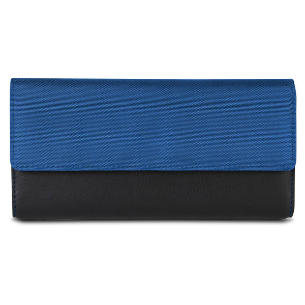 Travelon SafeID Accent Flap Clutch Wallet, Cobalt, 82873-340