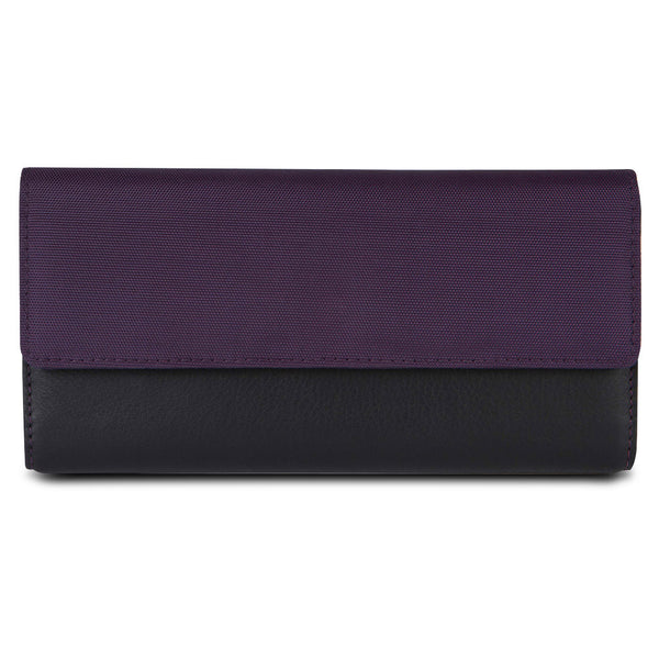 Travelon SafeID Accent Flap Clutch Wallet, Purple, 82873-150