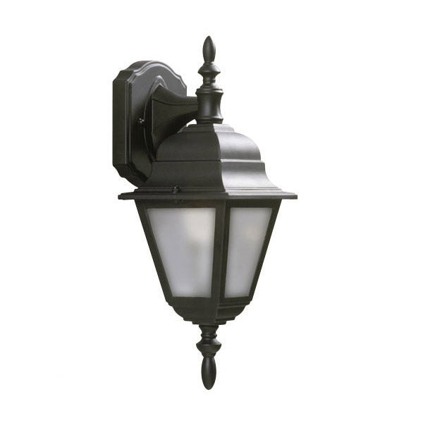 Galaxy Lighting Outdoor Wall Sconce with Frosted Beveled Glass, Black 301020BLK