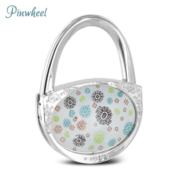 Pursfection Design Folding Handbag Purse Hook Hanger, Pinwheel - PFHH - CHRPIN
