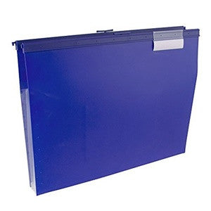 Wilson Jones Slide-Bar File Jacket with CD Holder, Blue - W68206B