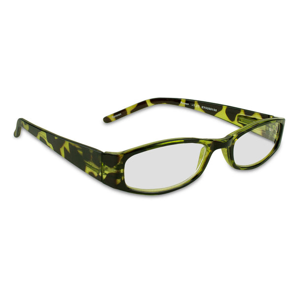 Green Looks +1.25 Green Tortoise Reading Glasses
