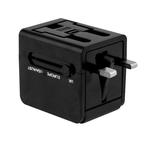 Universal International Plug Adapter, Black, 24601