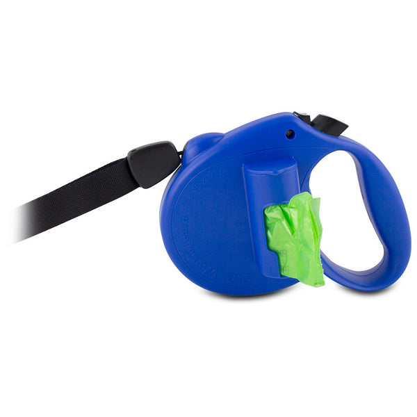 PAW Bio Retractable Leash with Green Pick-up Bags, Black - BL-1967