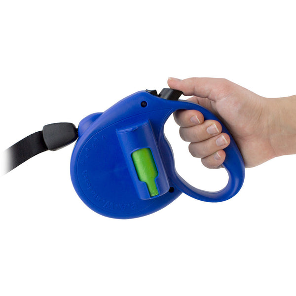 PAW Bio Retractable Leash with Green Pick-up Bags, Red - RD-1967