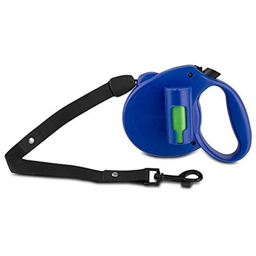 PAW Bio Retractable Leash with Green Pick-up Bags, Blue - BLU-1967